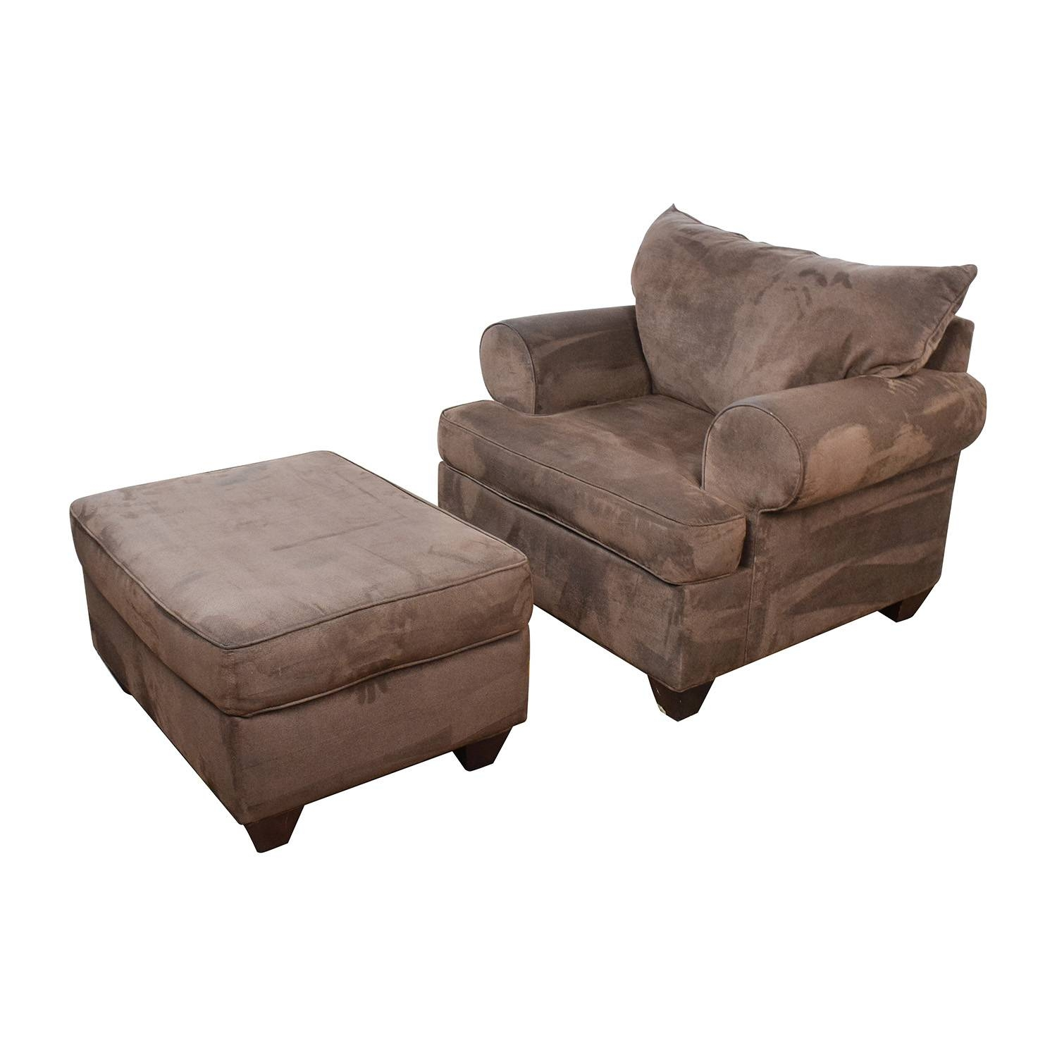 67% Off - Dark Brown Sofa Chair With Ottoman / Chairs in Sofa Chairs (Image 6 of 30)