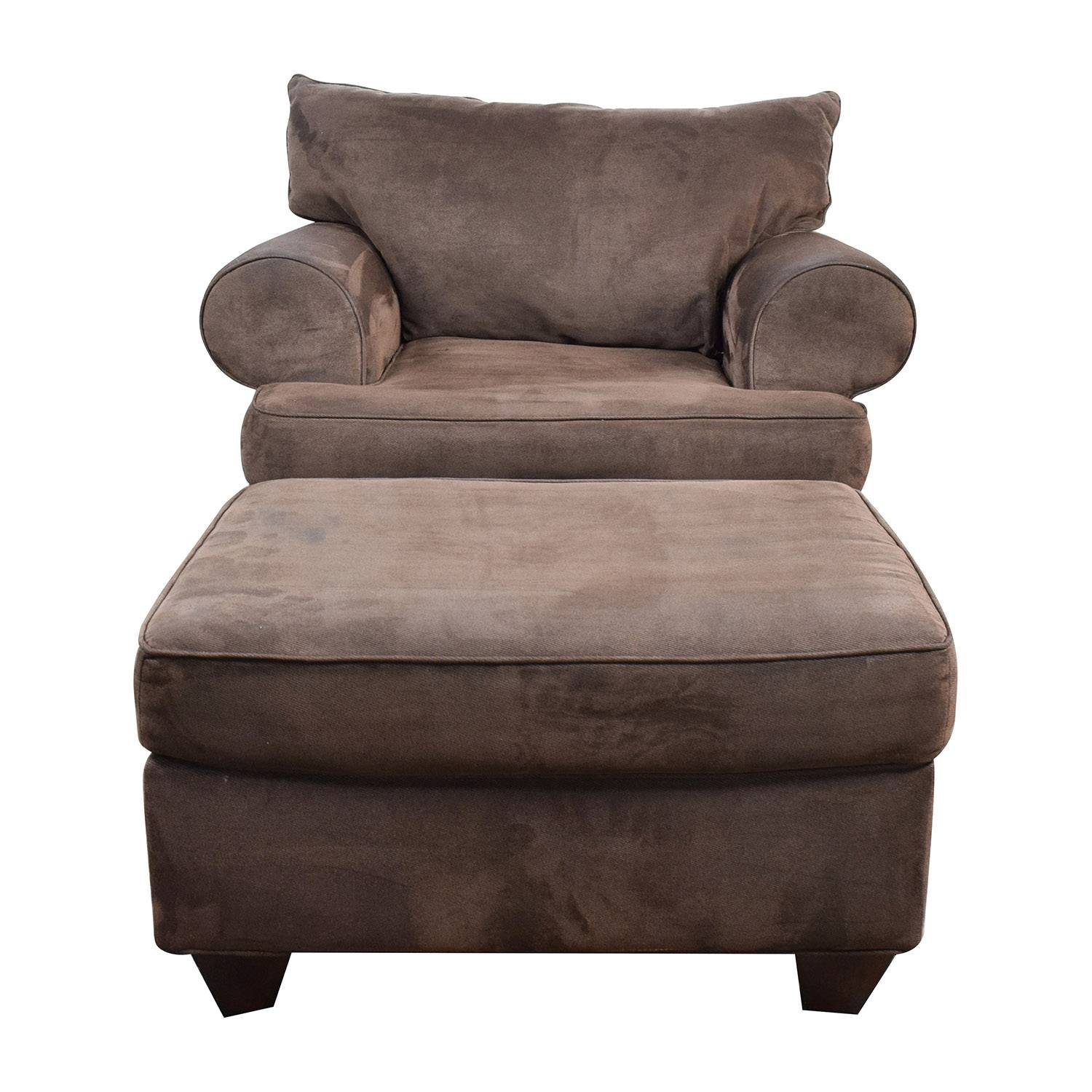 67% Off   Dark Brown Sofa Chair With Ottoman / Chairs Regarding Sofa Chair With Ottoman (Photo 1 of 30)