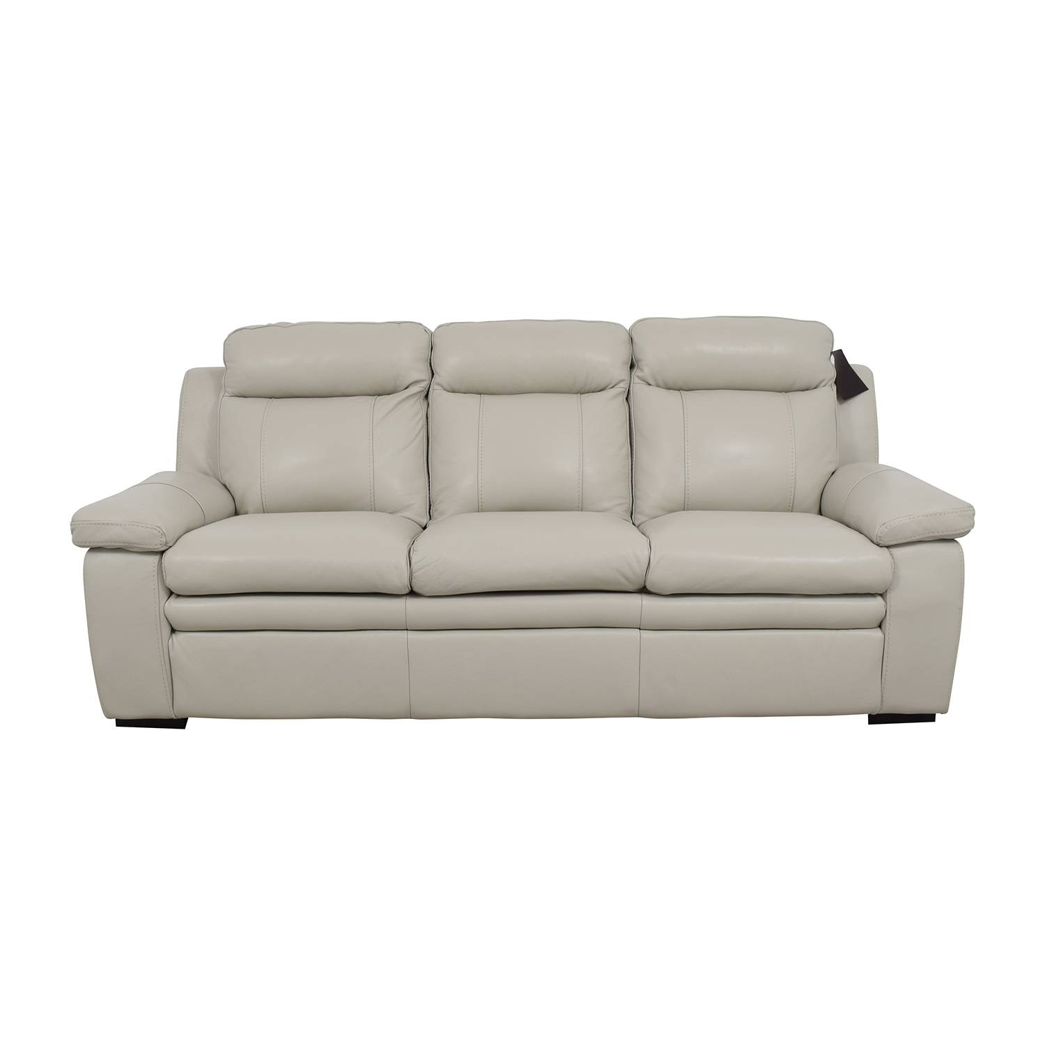 67% Off   Macy's Macy's Zane White Leather Sofa / Sofas Regarding Macys Sofas (Photo 23 of 25)
