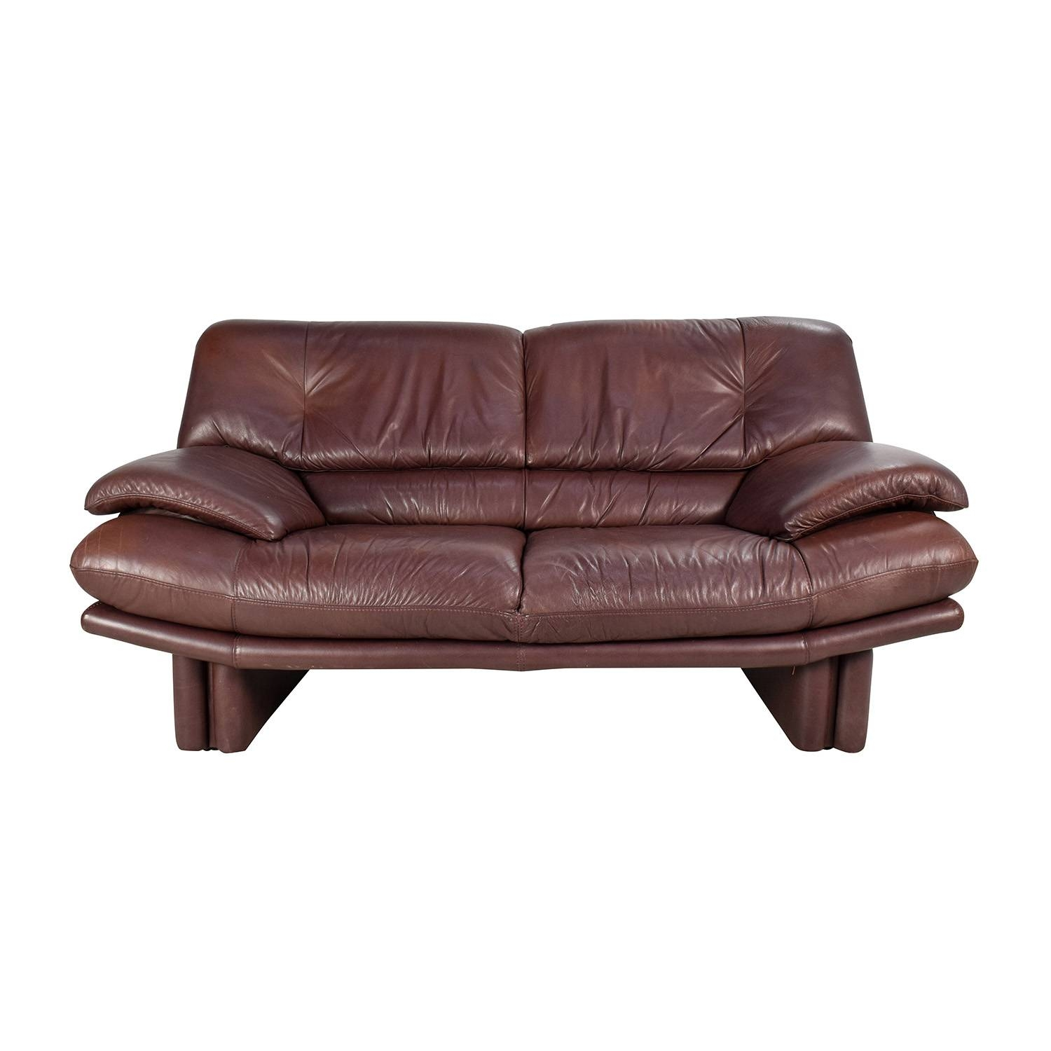 67% Off - Maurice Villency Maurice Villency Brown Leather Sofa / Sofas in Canterbury Leather Sofas (Image 3 of 30)