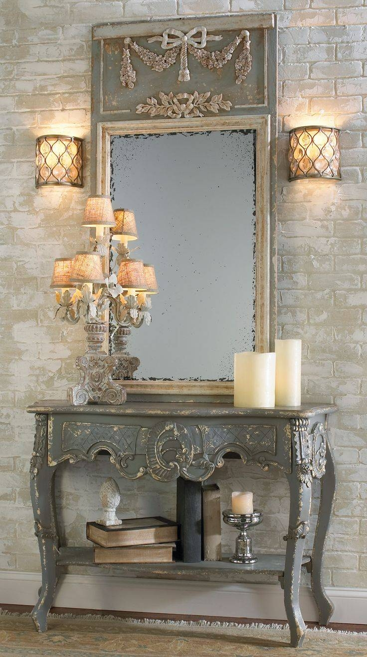 69 Best Mirrors French Country & Traditional Images On Pinterest for French Shabby Chic Mirrors (Image 4 of 25)