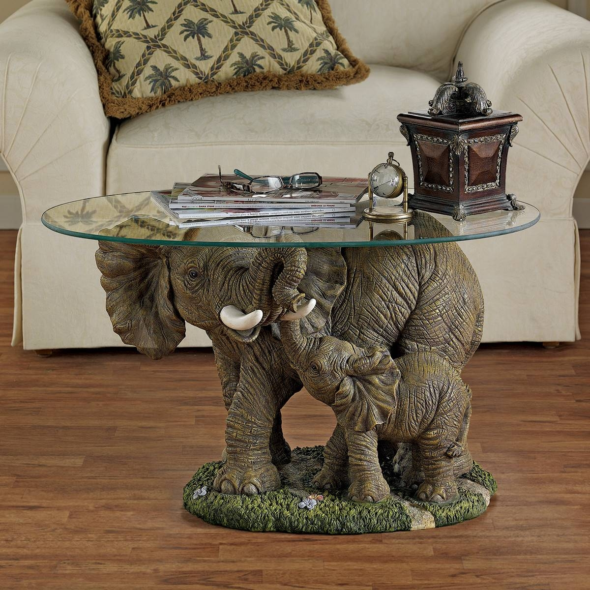 7 Unique Coffee Tables With Sculpture Base - Cute Furniture in Elephant Coffee Tables With Glass Top (Image 2 of 30)