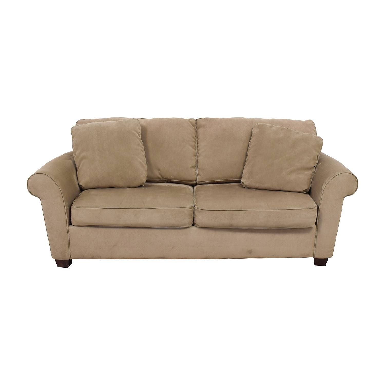 70% Off - Bauhaus Bauhaus Microfiber Tan Oversized Couch / Sofas for Bauhaus Sleeper Sofa (Image 4 of 30)