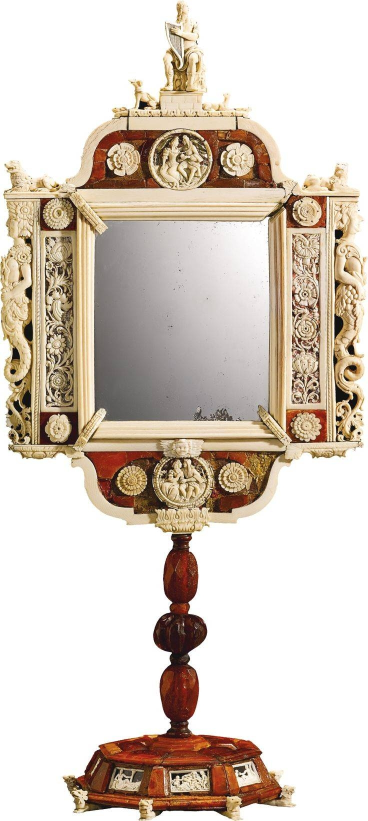 703 Best Antique Mirrors, Frame Images On Pinterest | Antique In Red Mirrors (Photo 12 of 25)