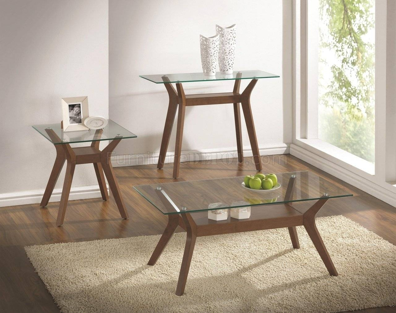 704168 3Pc Coffee Table Setcoaster W/optional Sofa Table Within Sofa Table With Chairs (Photo 22 of 30)