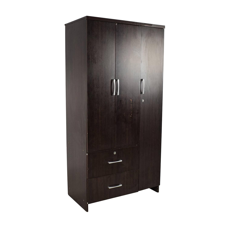 71% Off   Tall Dark Wardrobe / Storage With Regard To Dark Wardrobes (Photo 25 of 30)
