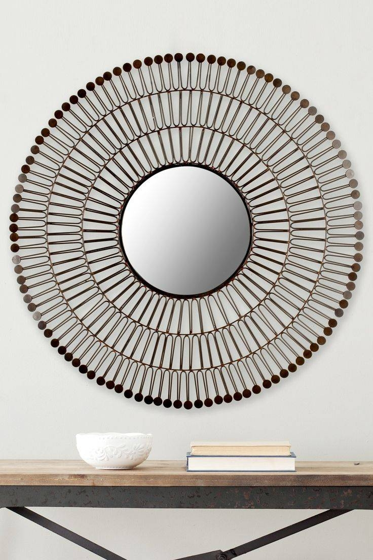 719 Best Mirrors Images On Pinterest | Mirror Mirror, Mirrors And intended for Round Bevelled Mirrors (Image 1 of 25)