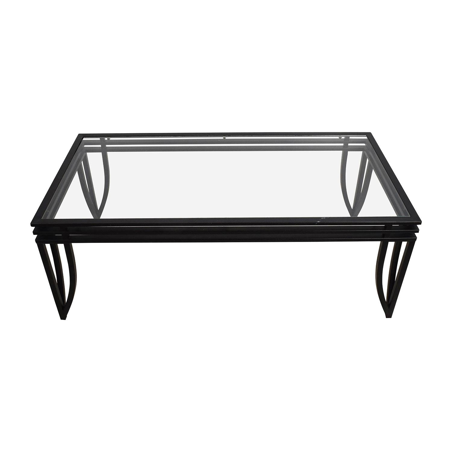 77% Off - Ashley Furniture Ashley Furniture Rectangular Glass And intended for Glass And Black Coffee Tables (Image 1 of 30)