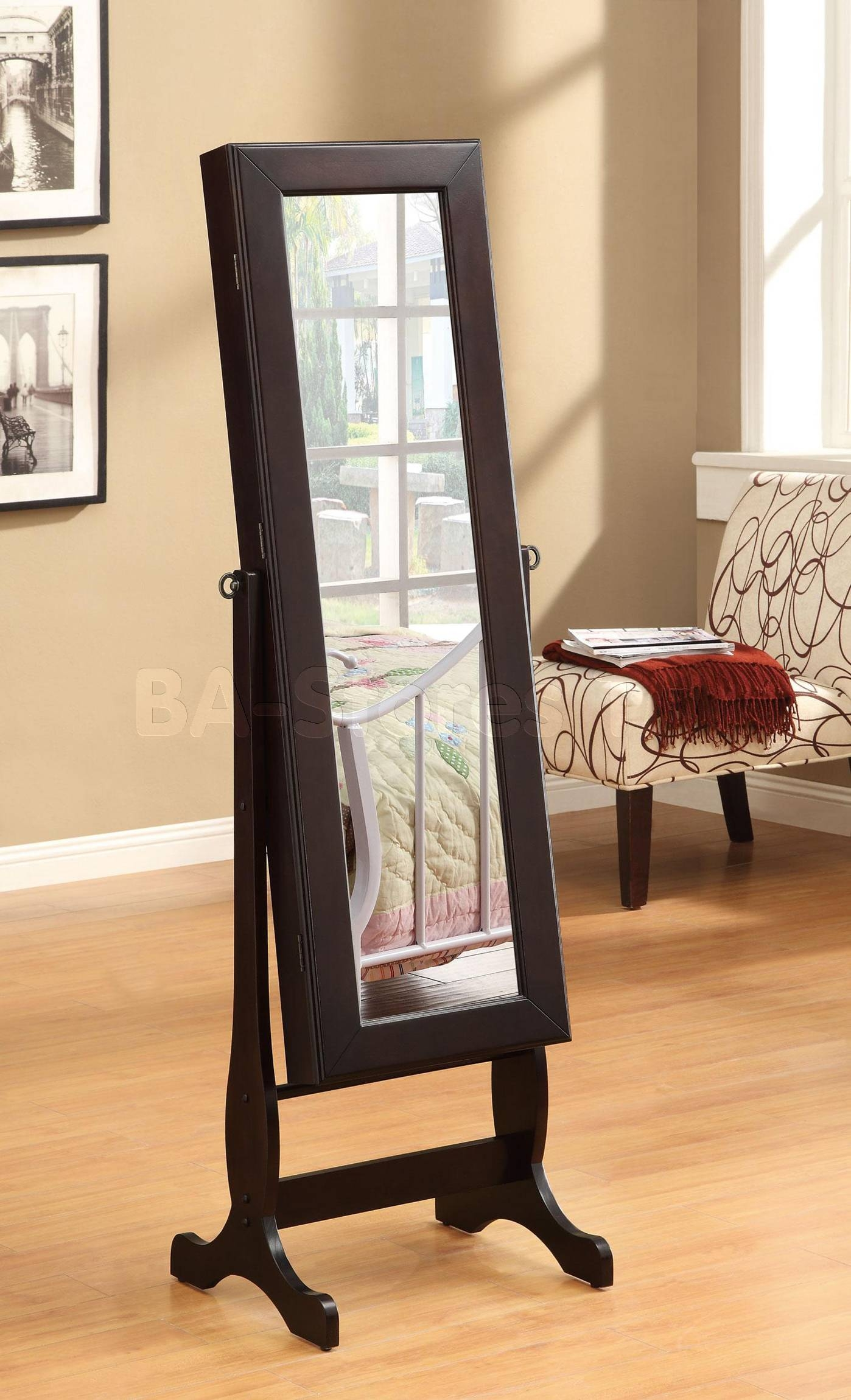 77025_Coa-901805-Accesories-Cheval-Mirror with regard to Free Standing Dress Mirrors (Image 4 of 25)