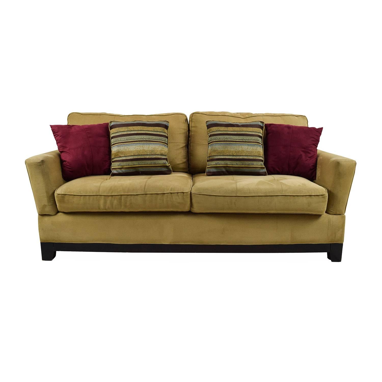 78% Off - Jennifer Convertibles Jennifer Convertibles Tan Sofa / Sofas pertaining to Jennifer Sofas (Image 8 of 30)
