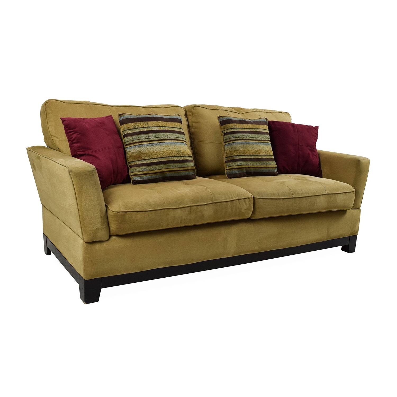 78% Off Jennifer Convertibles Jennifer Convertibles Tan Sofa throughout Jennifer Sofas (Image 9 of 30)