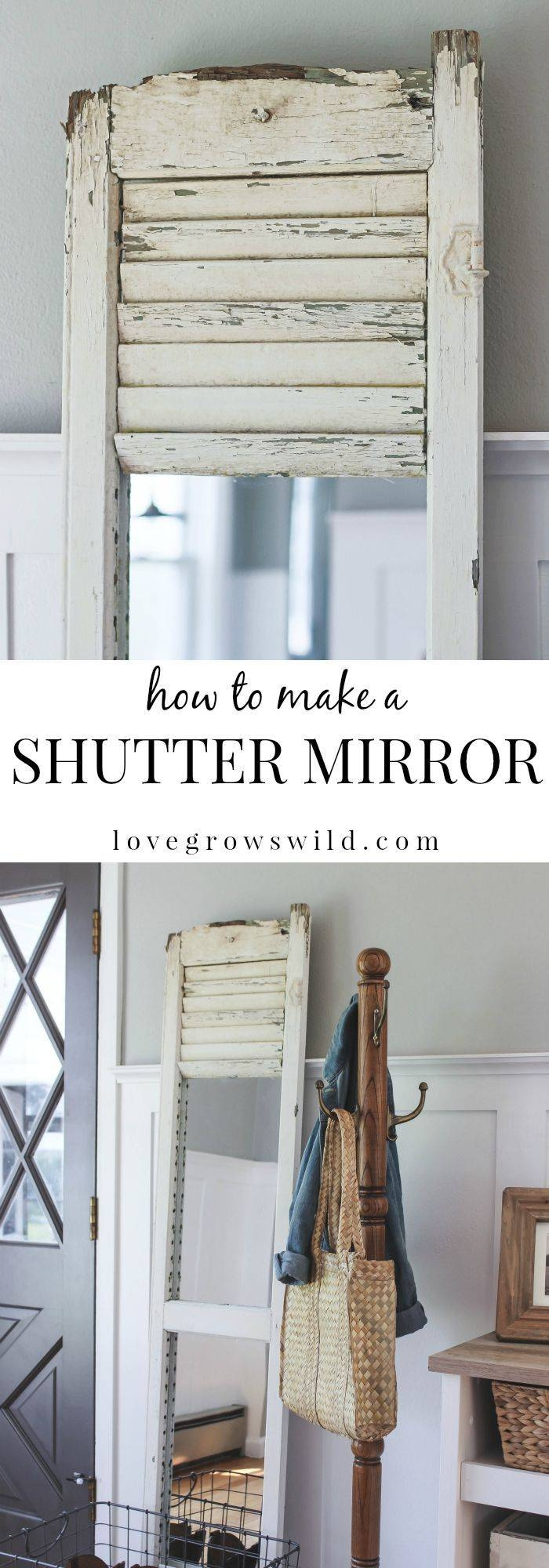 79 Best Diys And Ideas With Shutters Images On Pinterest regarding Wall Mirrors With Shutters (Image 1 of 25)
