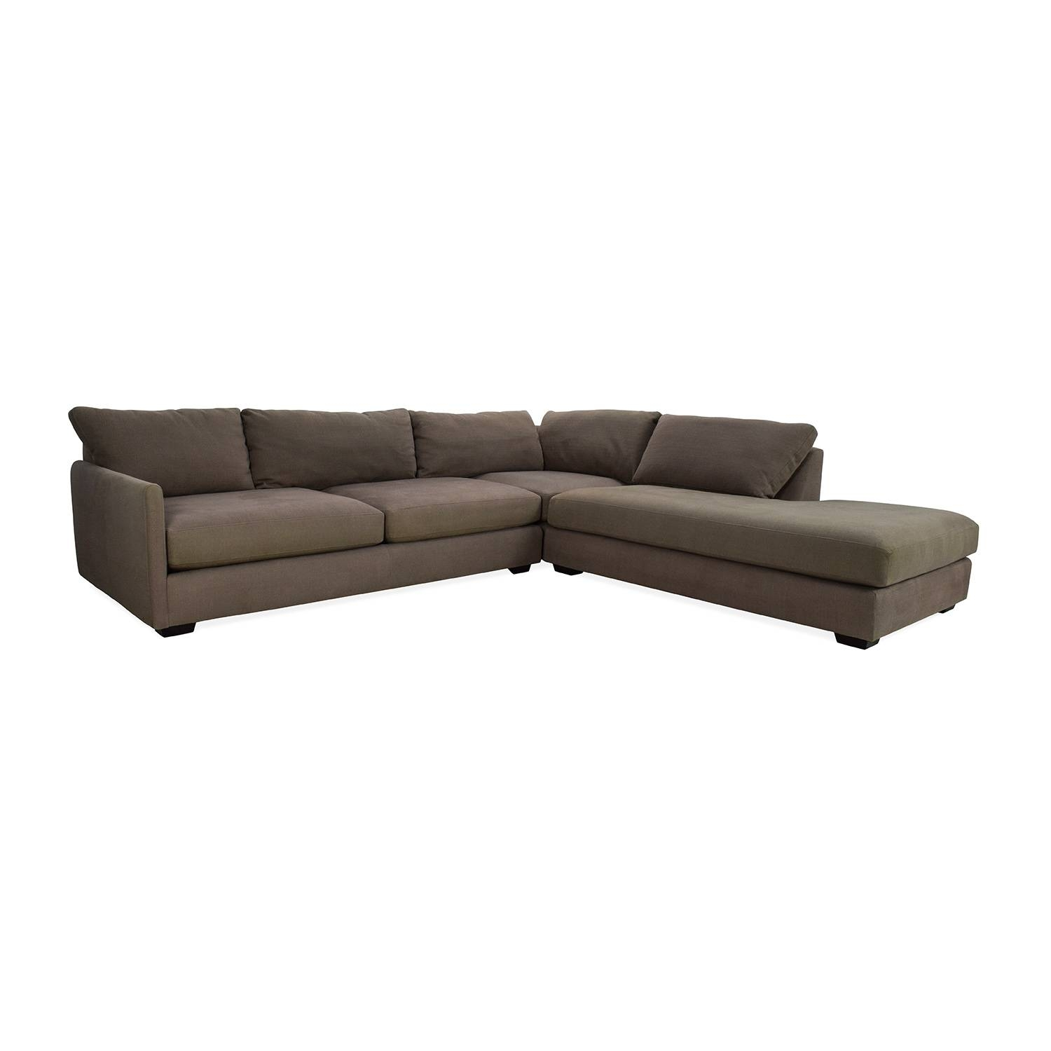 82% Off - Crate And Barrel Crate & Barrel Domino Sectional Sofa throughout Crate And Barrel Sectional Sofas (Image 6 of 30)