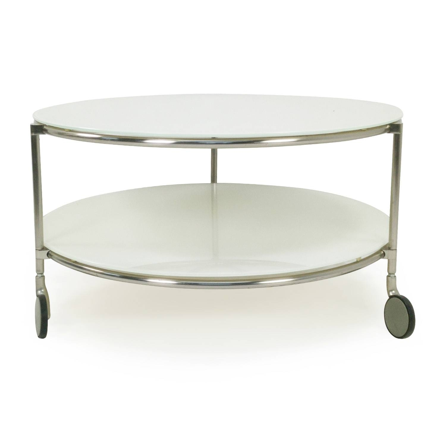 82% Off - Ikea String Coffee Table With Casters / Tables regarding Glass Coffee Tables With Casters (Image 1 of 30)