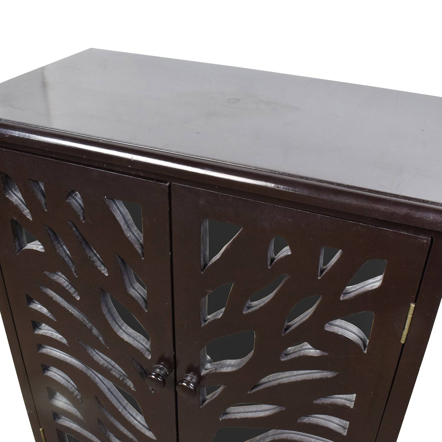 82% Off - Small Black Wood And Mirrored Chest / Storage with regard to Small Black Sideboards (Image 2 of 30)