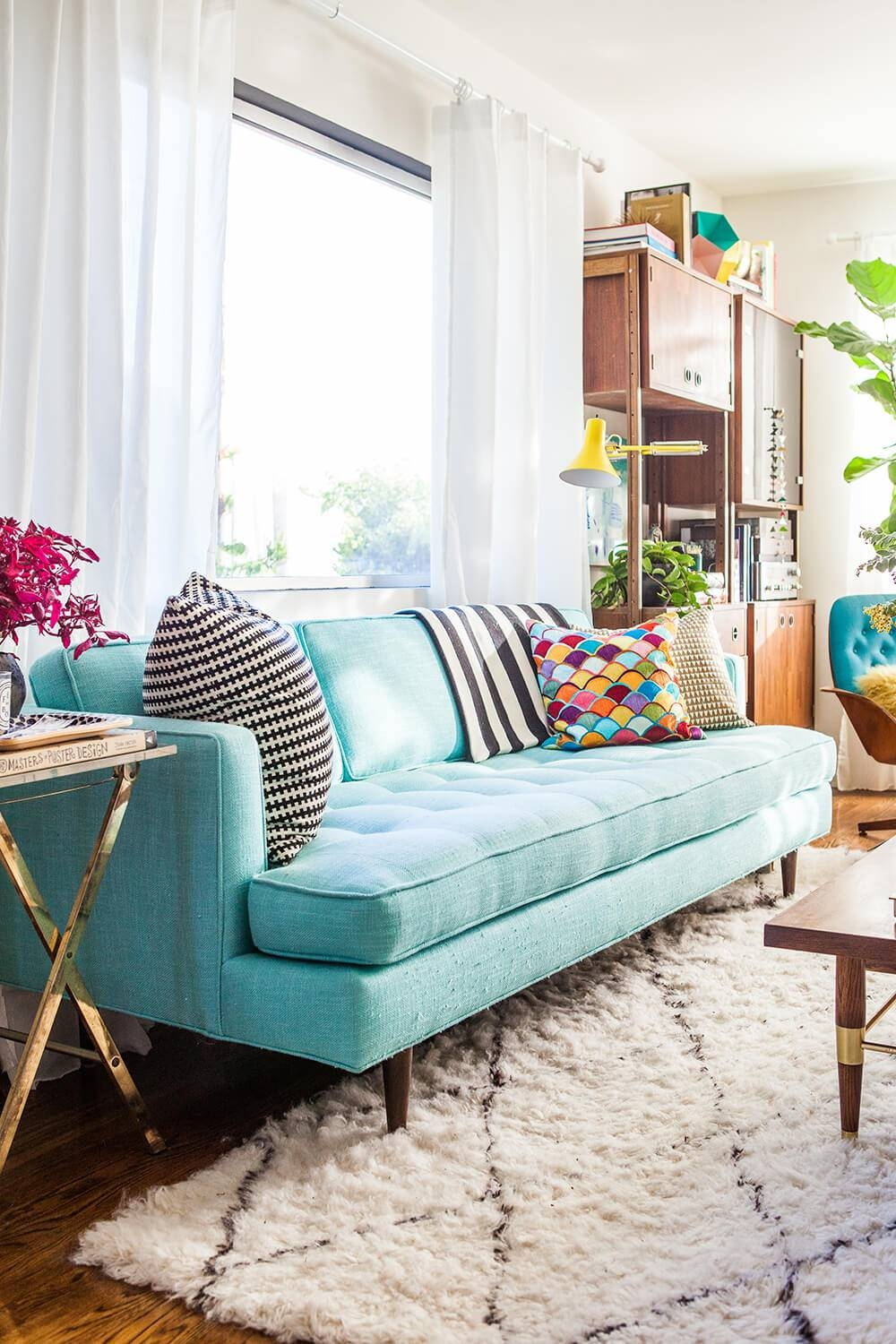 84 Affordable Amazing Sofas Under $1000   Emily Henderson With Aqua Sofa Beds (Photo 24 of 30)