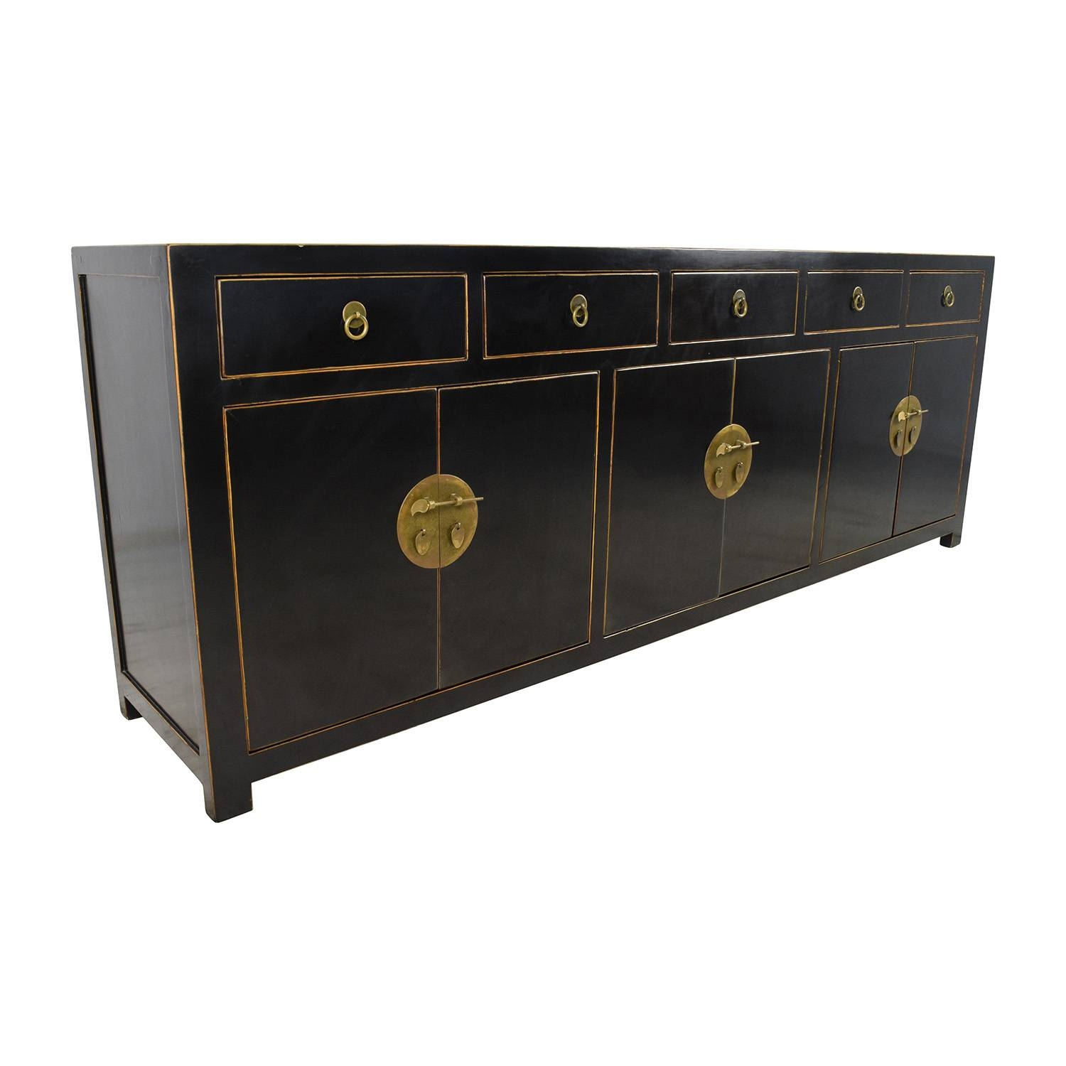 85% Off - Custom Made Black Drawer And Cabinet Sideboard / Storage throughout Ready Made Sideboards (Image 6 of 30)