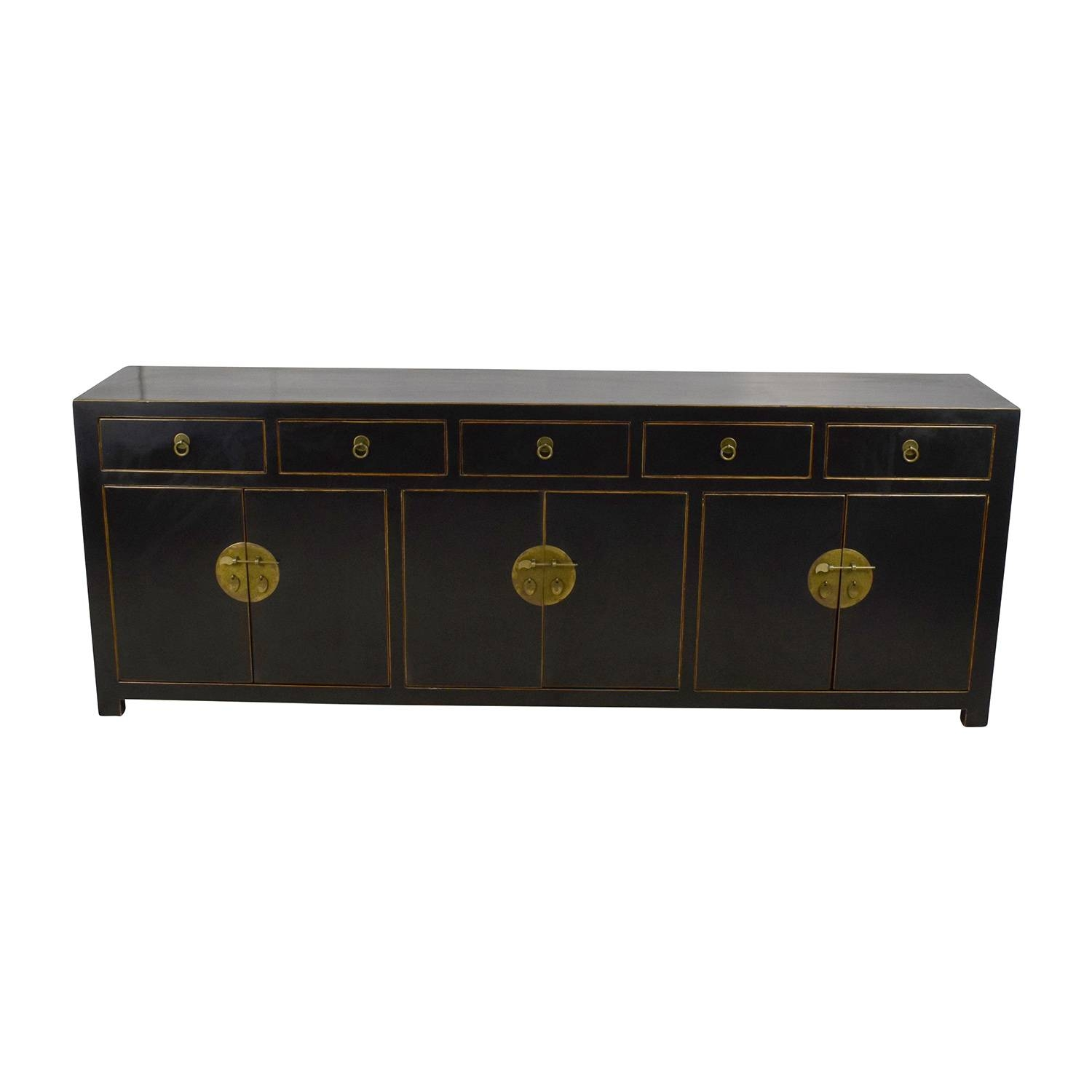 85% Off   Custom Made Black Drawer And Cabinet Sideboard / Storage With Ready Made Sideboards (Photo 5 of 30)
