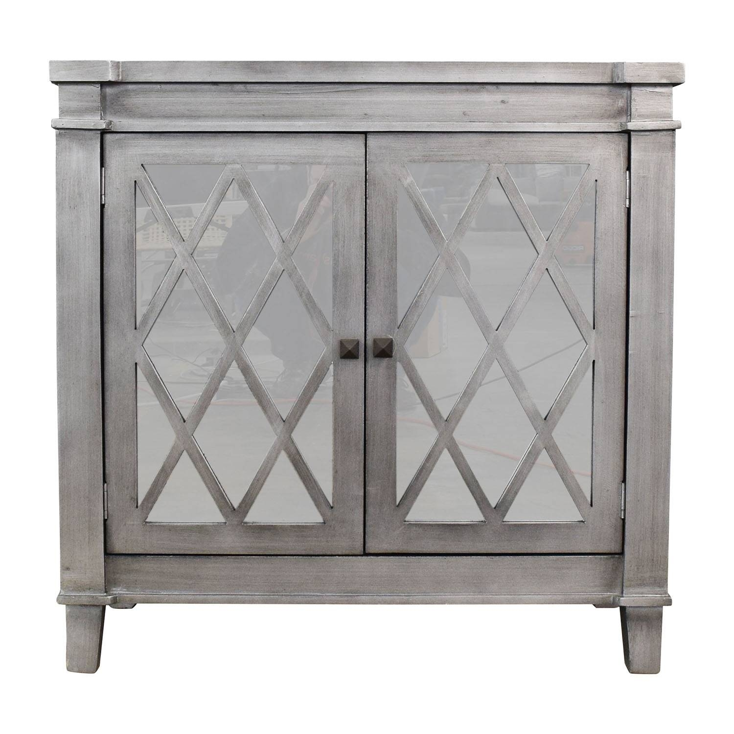 86% Off   Henredon Henredon Acquisitions Mable Topped Sideboard Inside Black And Silver Sideboards (Photo 25 of 30)