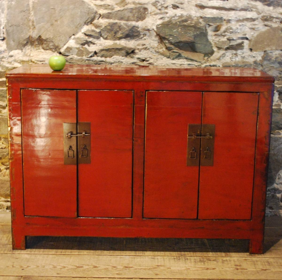 97022 Striking Red And Black Lacquered Antique Chinese Sideboard throughout Chinese Sideboards (Image 1 of 30)