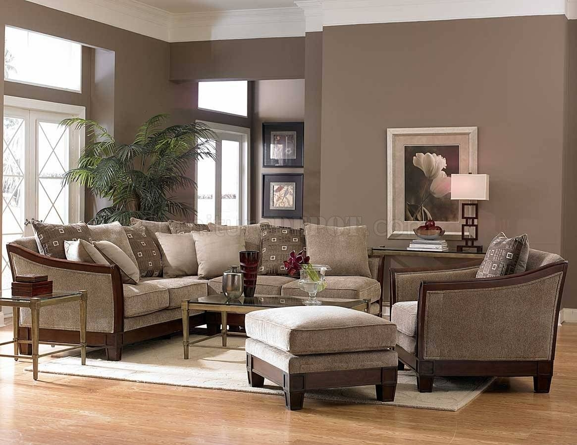 9927 Trenton Sectional Sofahomelegance - Tan Chenille Fabric intended for Chenille Sectional Sofas (Image 2 of 30)