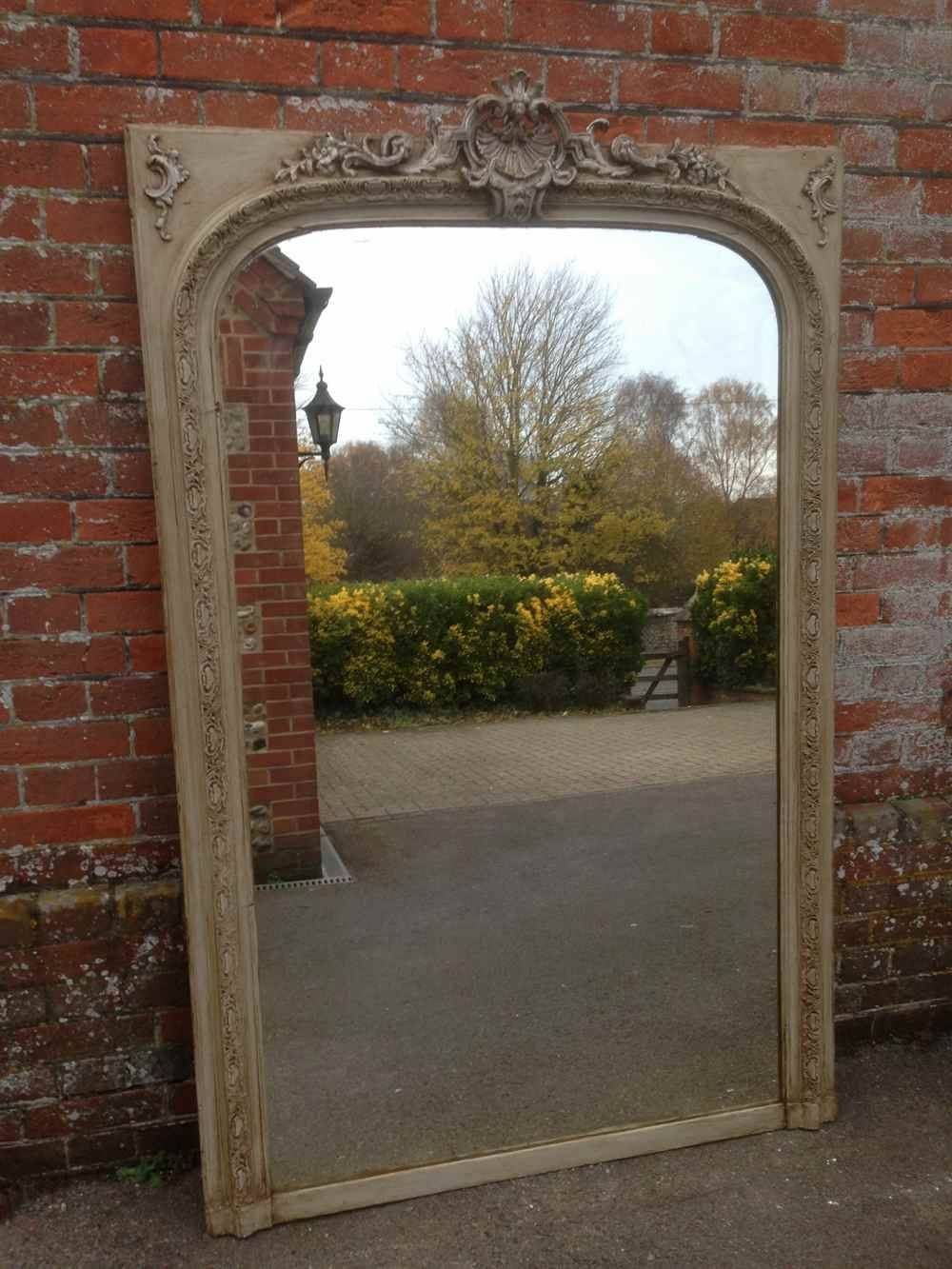 A Beautiful Large Antique 19Th Century French Carved Wood & Gesso regarding Antique Arched Mirrors (Image 3 of 25)