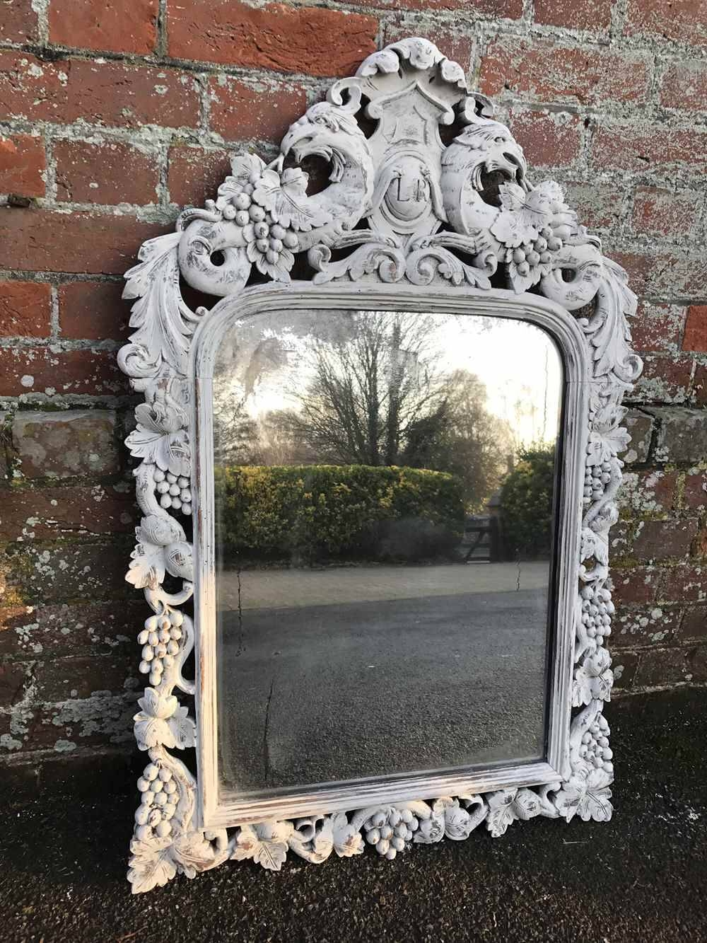 A Delightful Early Highly Decorative Antique 19Th Century French within Ornate French Mirrors (Image 4 of 25)