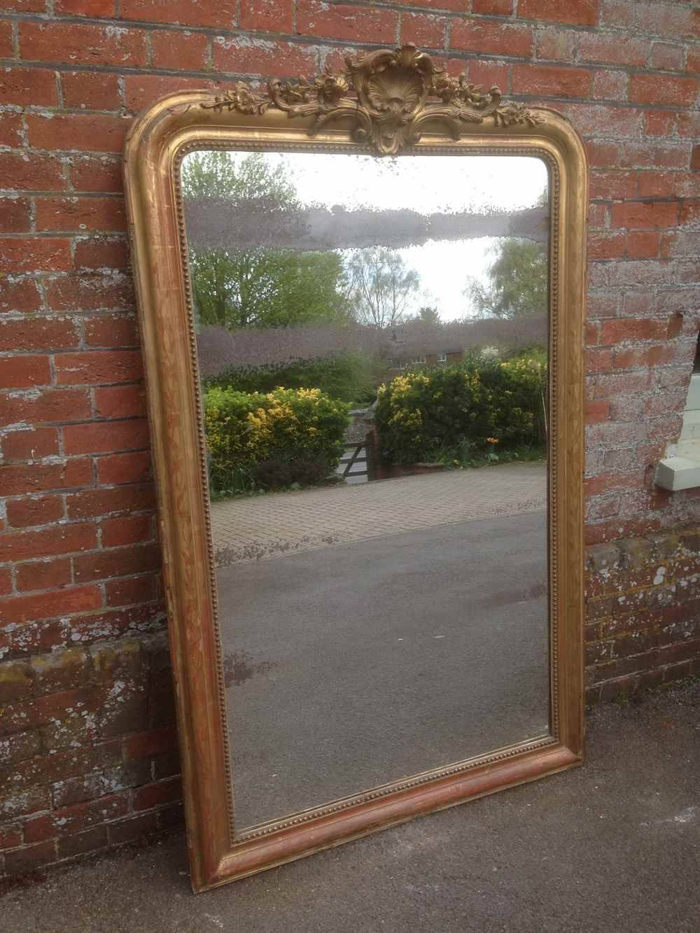 A Fabulous Highly Decorative Large Antique 19Th Century French pertaining to Gilt Mirrors (Image 4 of 25)