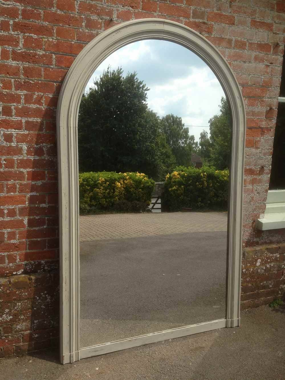A Fabulous Large Antique 19Th Century French Oak Painted Arched intended for Antique Arched Mirrors (Image 4 of 25)