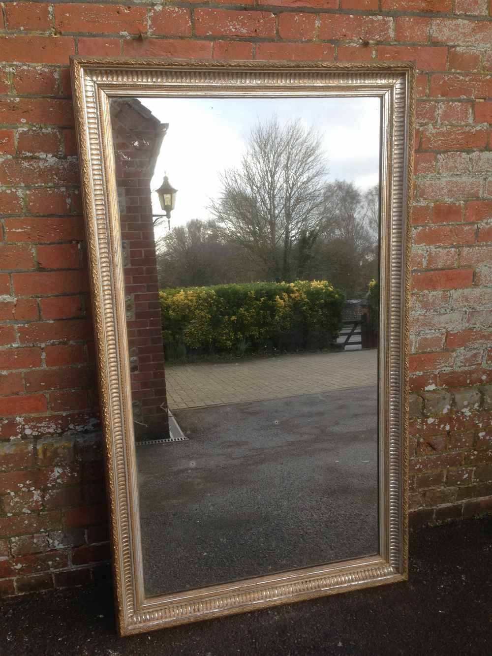 A Fabulous Large Very Unusual Antique 19Th Century French Ribbed For Antique Large Mirrors (View 21 of 25)
