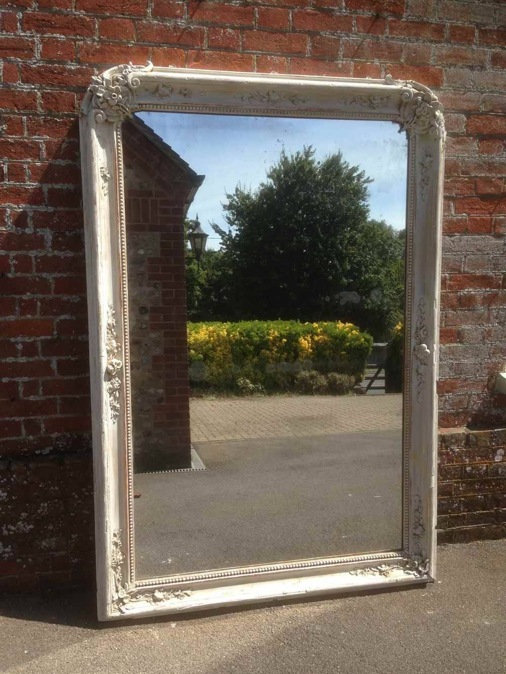 A Fantastic Very Large Highly Decorative Early Antique 19Th inside French Floor Standing Mirrors (Image 8 of 25)