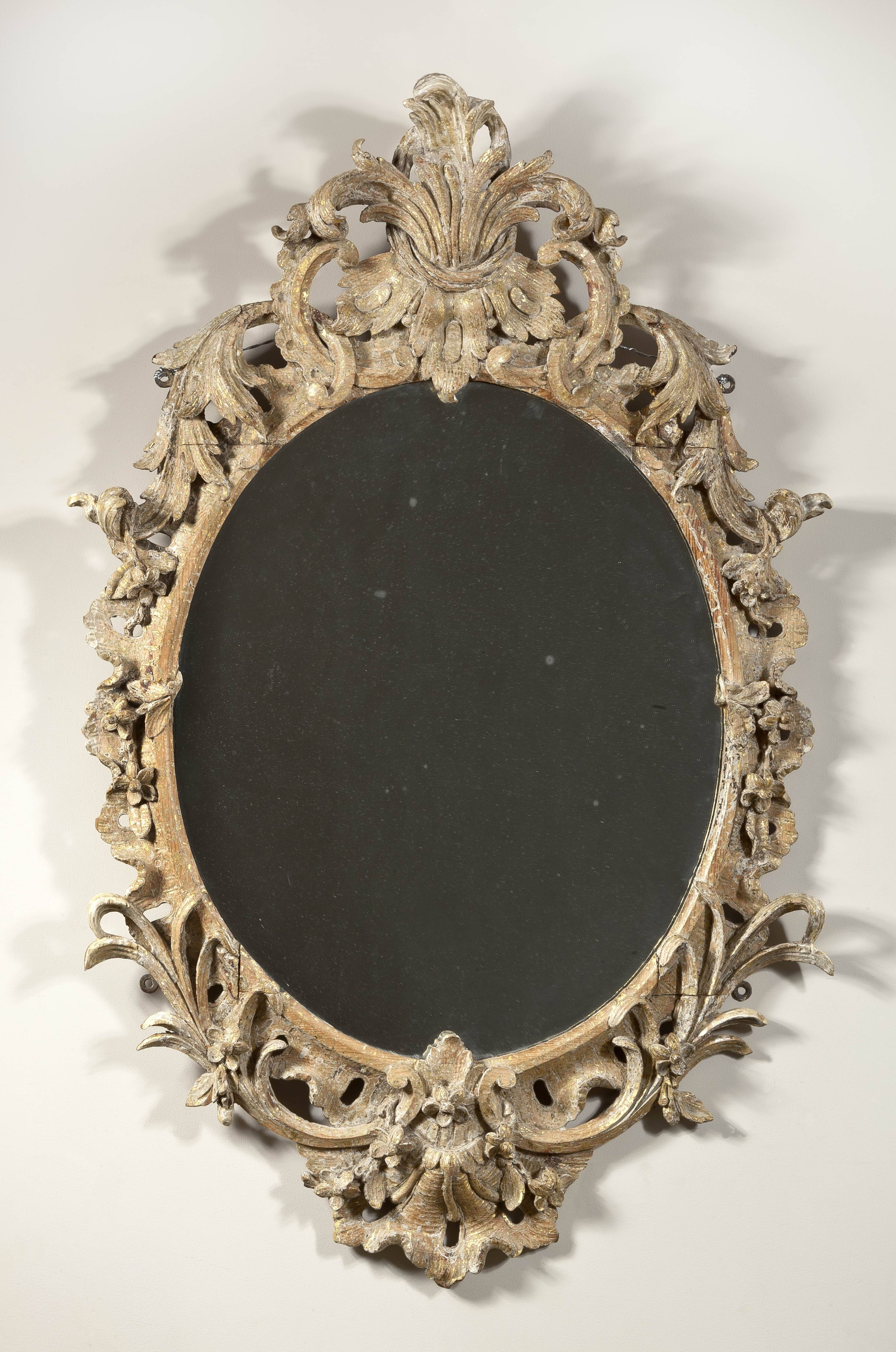 A Fine Carved And Gilt Oval Rococo Mirror | Clinton Howell throughout Rococo Mirrors (Image 5 of 25)