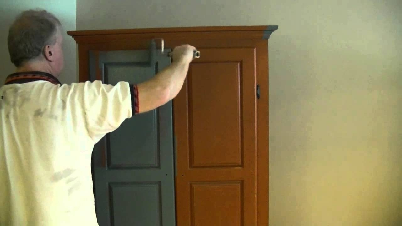 A Good Way To Paint A Wardrobe / Armoire - Youtube throughout Dark Wood Wardrobes Armoires (Image 3 of 30)