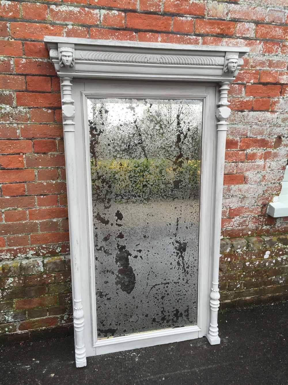 A Highly Decorative Large Antique 19Th Century French Painted with regard to French Floor Mirrors (Image 3 of 25)