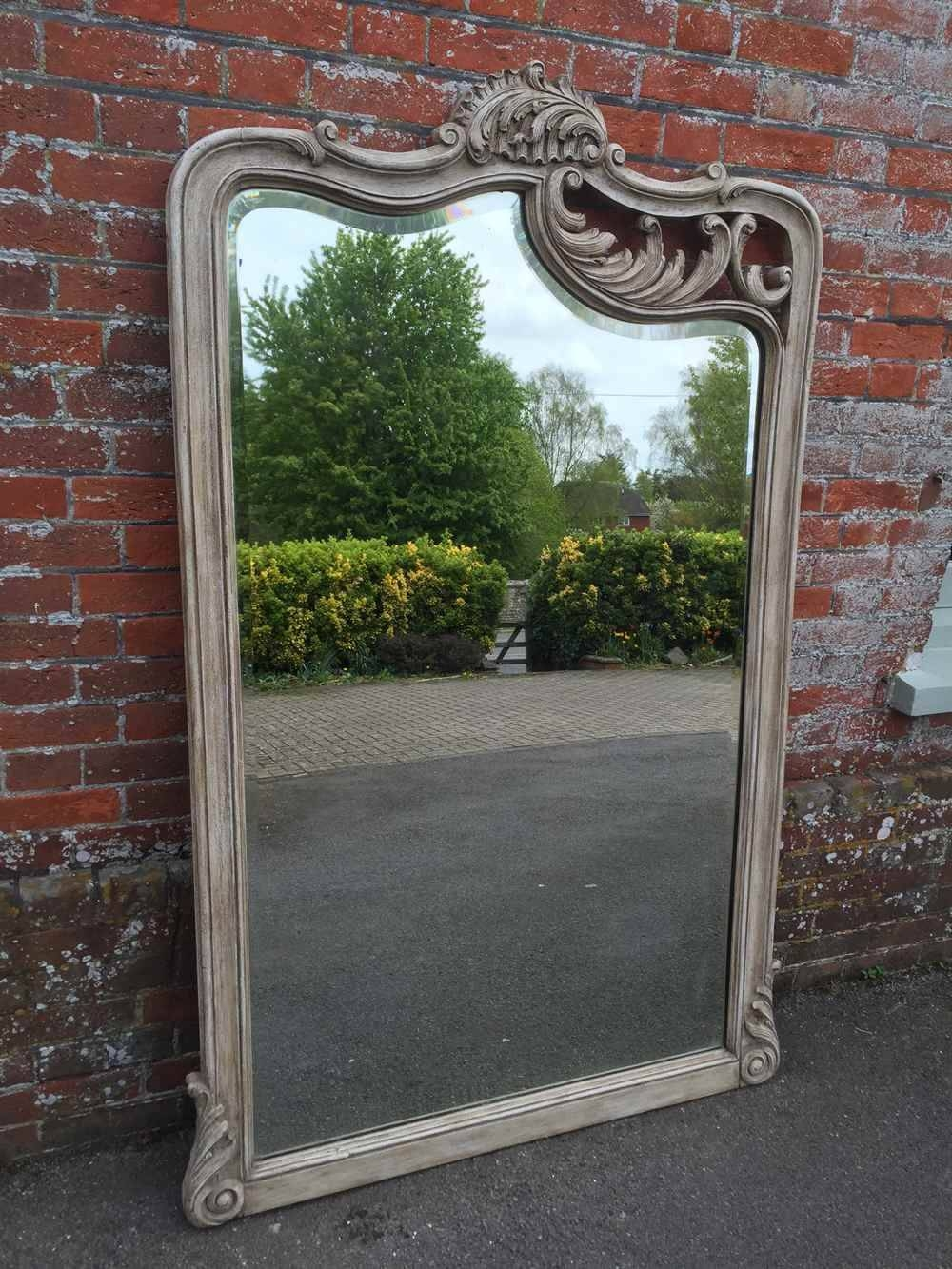 A Highly Unusual Large Antique 19Th Century French Carved Wood with regard to Unusual Large Mirrors (Image 2 of 25)