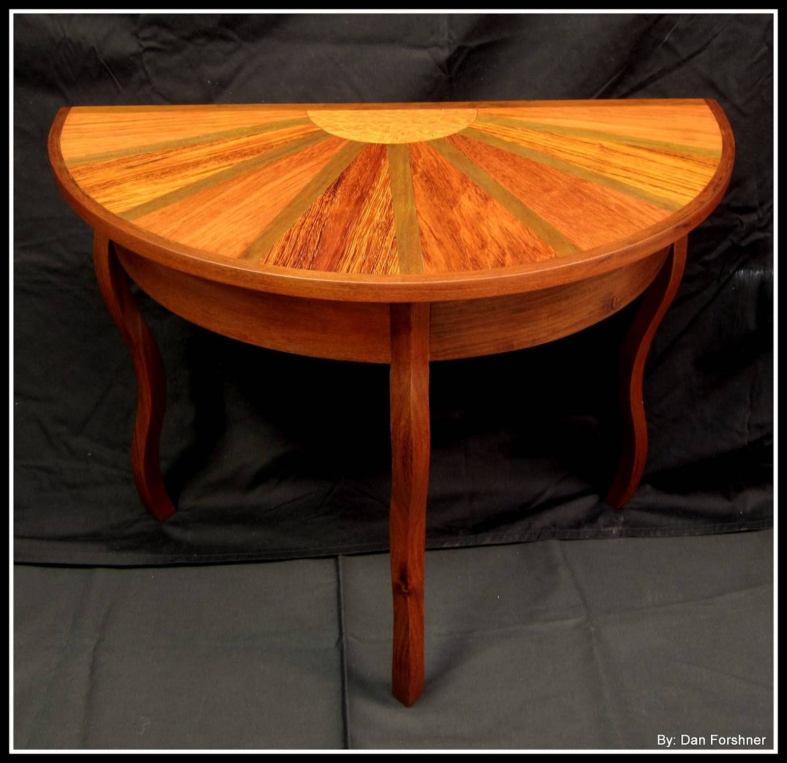 A Holiday At Sea: Half Round Coffee Table in Half Circle Coffee Tables (Image 2 of 30)