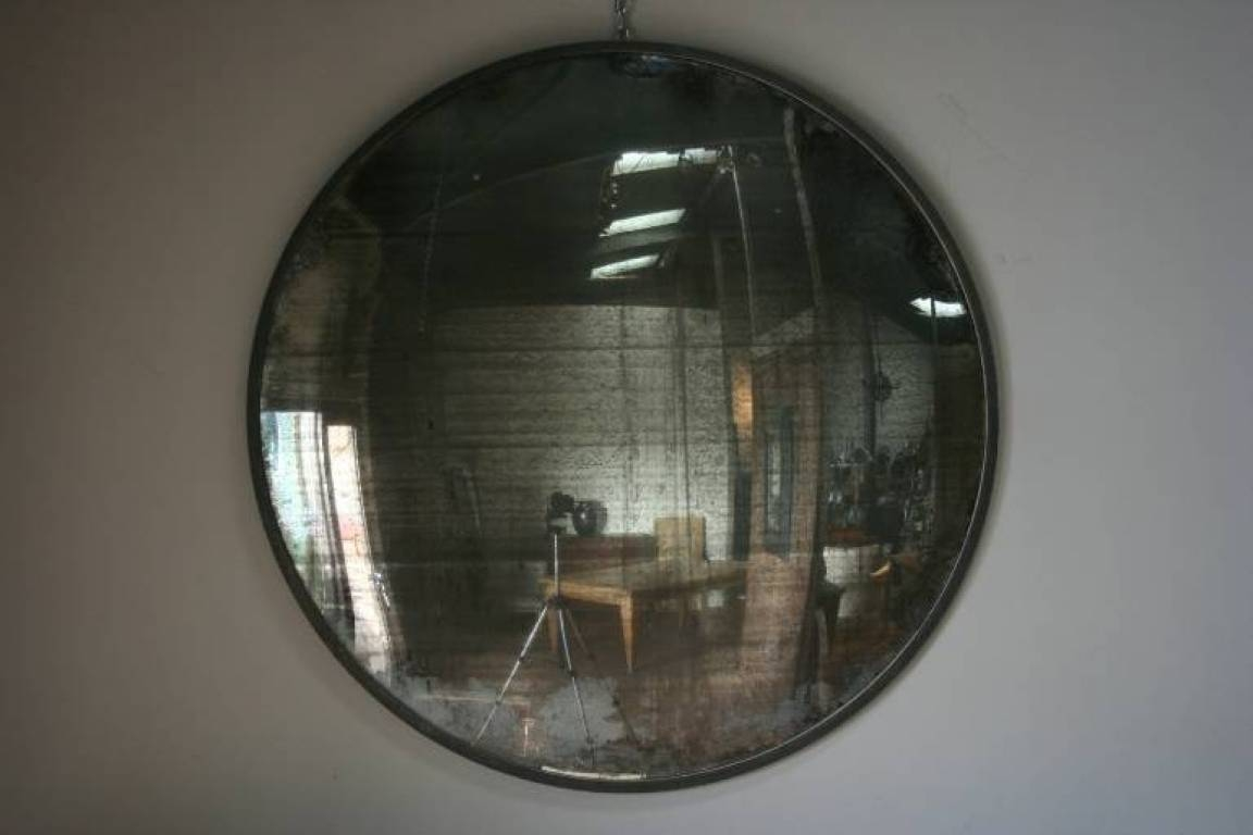 A Huge And Fantastic Early C20Th Industrial Convex Mirror In Mirrors for Large Convex Mirrors (Image 1 of 25)
