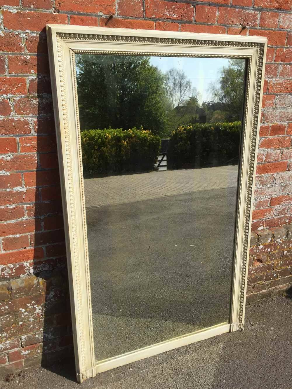 A Large Antique 19Th Century French Carved Wood And Gesso Plain Regarding Antique Large Mirrors (View 25 of 25)