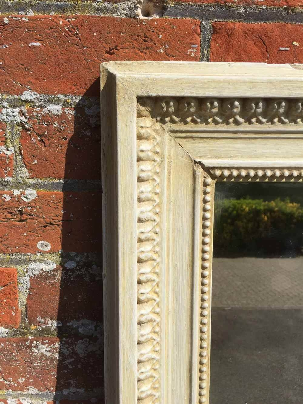 A Large Antique 19Th Century French Carved Wood And Gesso Plain with regard to Cream Standing Mirrors (Image 1 of 25)