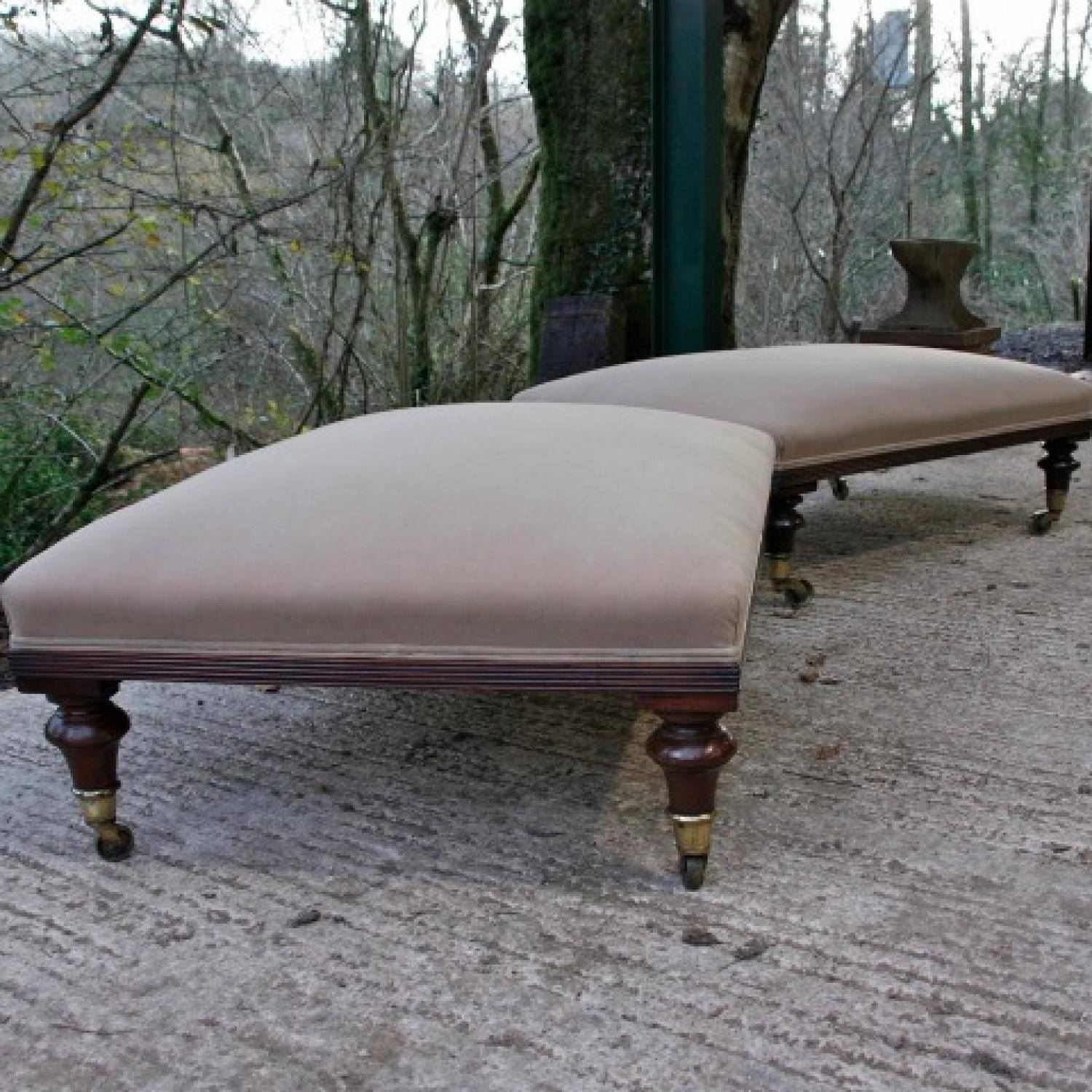 A Pair Of Large Footstools C1890 In Warehouse Seating in Large Footstools (Image 2 of 30)