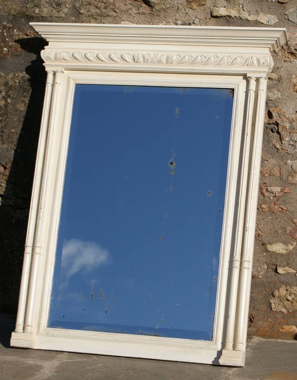 A Pretty French Henri Ii Revival Shabby Chic Painted Mirror inside French Shabby Chic Mirrors (Image 6 of 25)