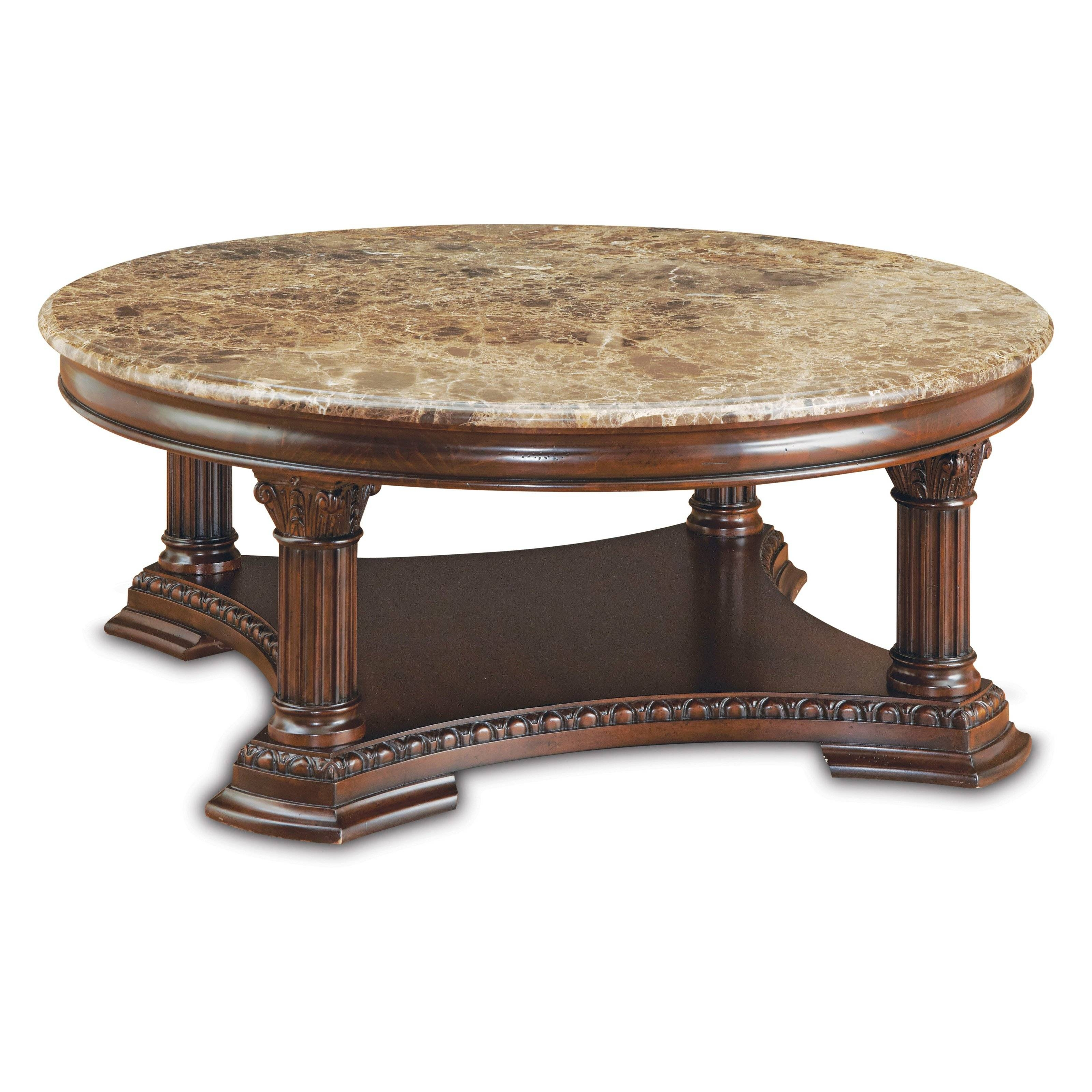 A.r.t. Furniture Capri Round Coffee Table - Claret - Coffee Tables pertaining to Marble Round Coffee Tables (Image 3 of 30)
