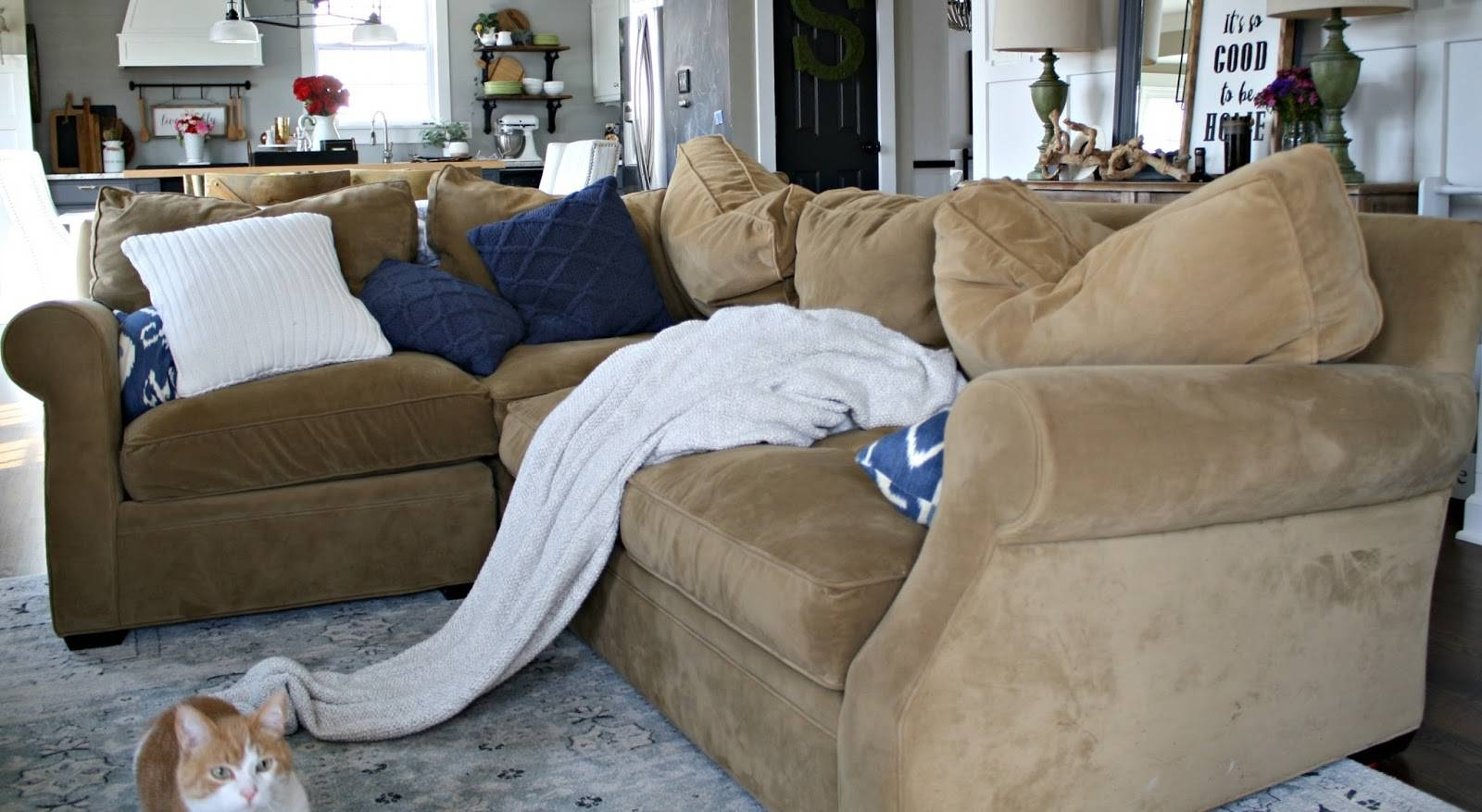 A Review Of Our Most Expensive Purchase! From Thrifty Decor Chick Within  Expensive Sectional Sofas