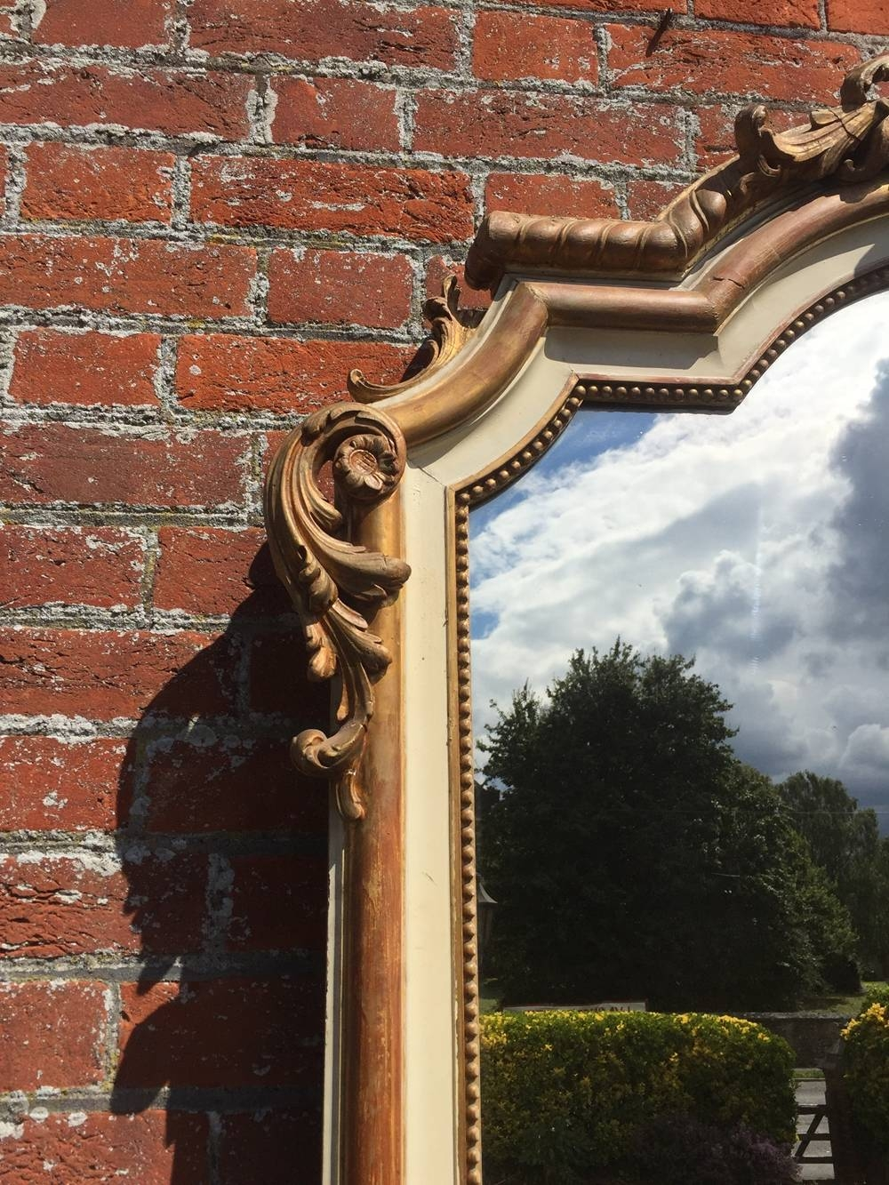 A Superb Large Antique 19Th French Carved Wood & Gesso Original inside Cream Antique Mirrors (Image 6 of 25)