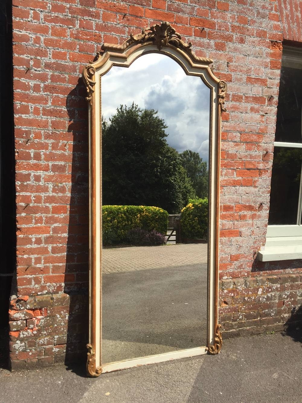 A Superb Large Antique 19Th French Carved Wood & Gesso Original throughout Cream Antique Mirrors (Image 7 of 25)