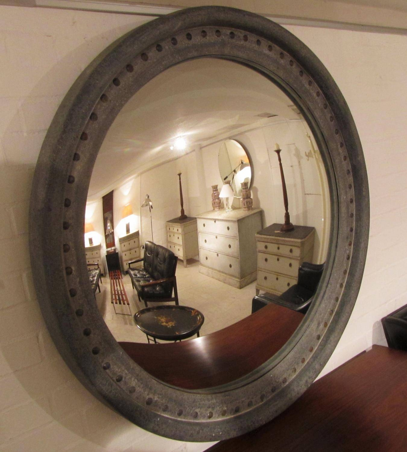 A Very Large Convex Mirror In Mirrors intended for Large Convex Mirrors (Image 2 of 25)