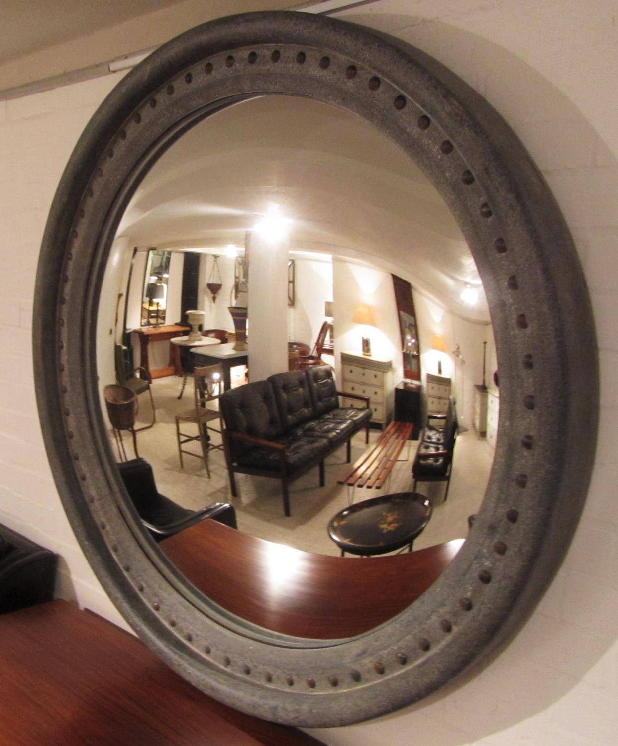 A Very Large Convex Mirror In Mirrors pertaining to Large Convex Mirrors (Image 3 of 25)