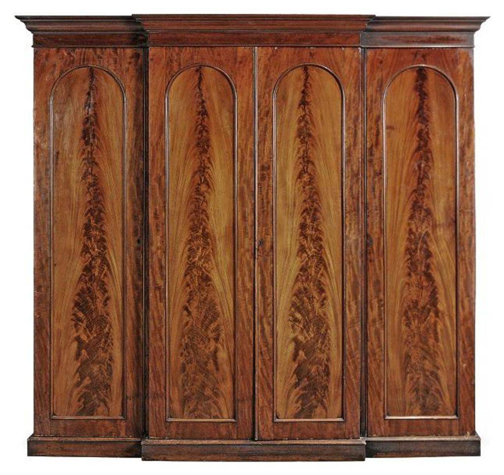 A Victorian Mahogany Breakfront Wardrobe | Last Quarter 19Th pertaining to Victorian Mahogany Breakfront Wardrobe (Image 2 of 30)