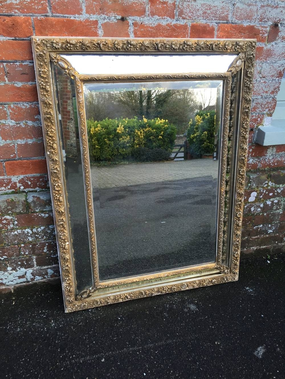 A Wonderful Antique 19Th Century French Carved Wood And Gesso pertaining to Antique Gilt Mirrors (Image 5 of 25)