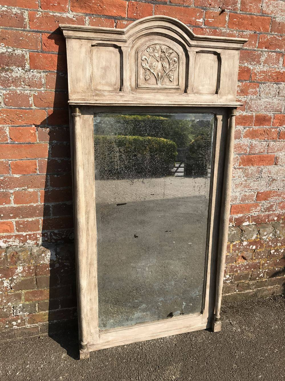 A Wonderful Large Antique 19Th Century French Carved Wood Painted inside Antique Large Mirrors (Image 8 of 25)